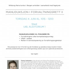 Manuduksjon i forvaltningsrett II